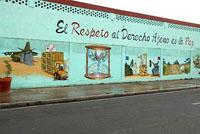 Renovado el mural contra el terrorismo en Santa Clara
